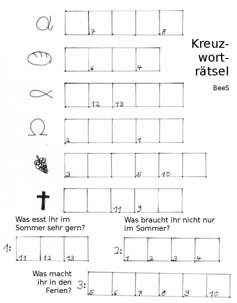 Kinderseite : Evangelische Kirchengemeinde Bad Sassendorf